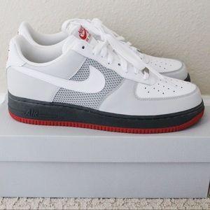 Nike Men's Air Force 1 '07 - White/Grey (Size 11)